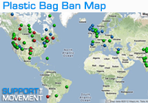 Bag ban map