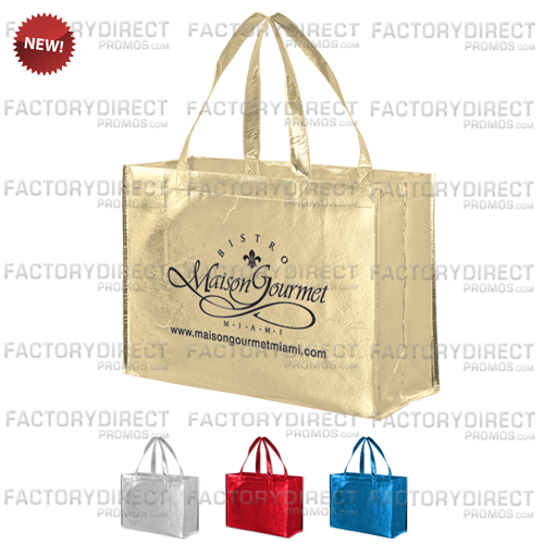 Our metallic shopping bags add a classy shimmer that turns heads and endears your brand with your customers.