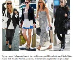 How to Be Green? Rock Reusable Bags Like These 4 Hollywood Stars