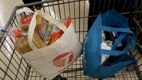 reusable bags in cart