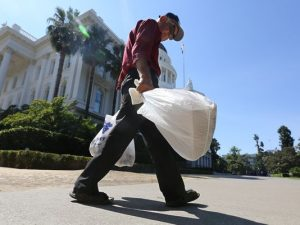 man with bags
