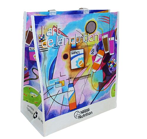 Custom Reusable Grocery Bag with company logo and branding - Nestle