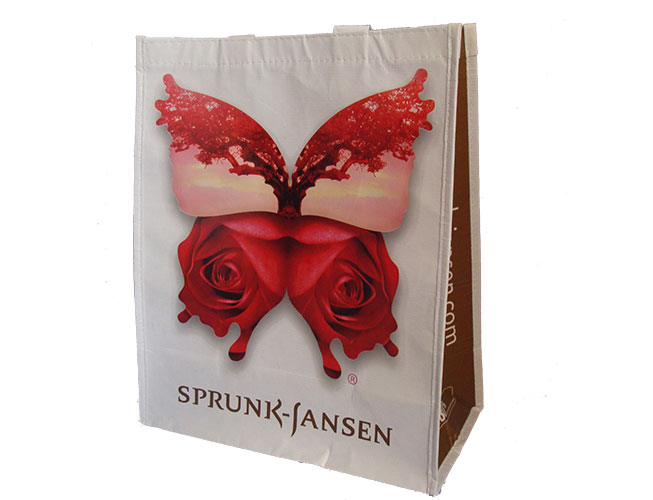 Custom Reusable Grocery Bag with company logo and branding - Sprunk Jansen