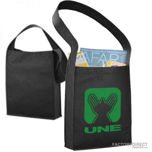 Black customized messenger bags