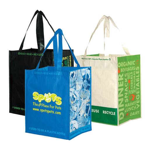 Recycled Grocery Bags Factory Direct Promos