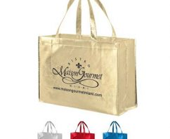 Make Your Brand Shine with Metallic Shopping Bags