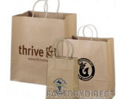 Buy Kraft Recycled Grocery Bags at Rock Bottom Pricing!