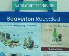 Custom reusable recycling bags are a great fit for multi family tenants