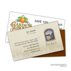 Seed paper items factory direct promos seed business cards reheart Images