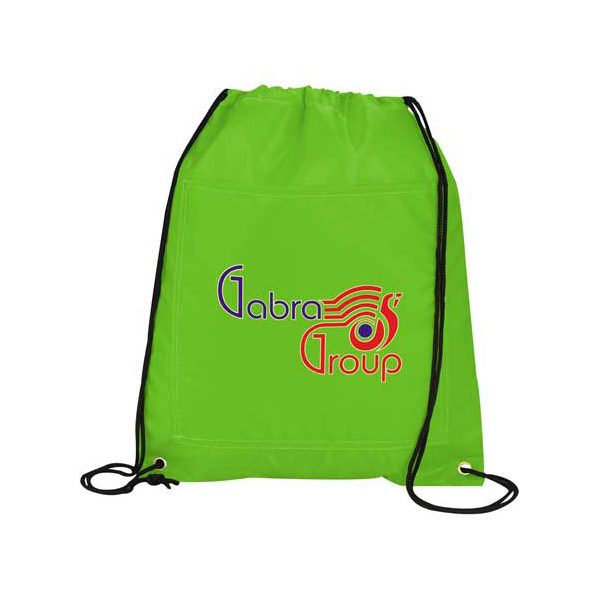 Insulated Drawstring Bags - Lime