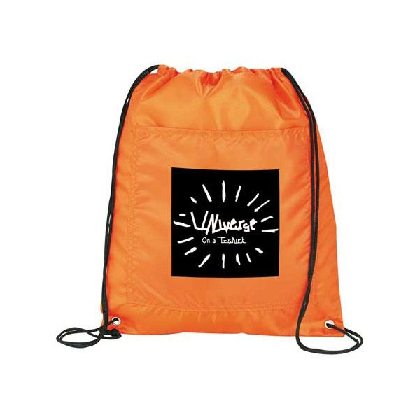 Insulated Drawstring Bags - Orange