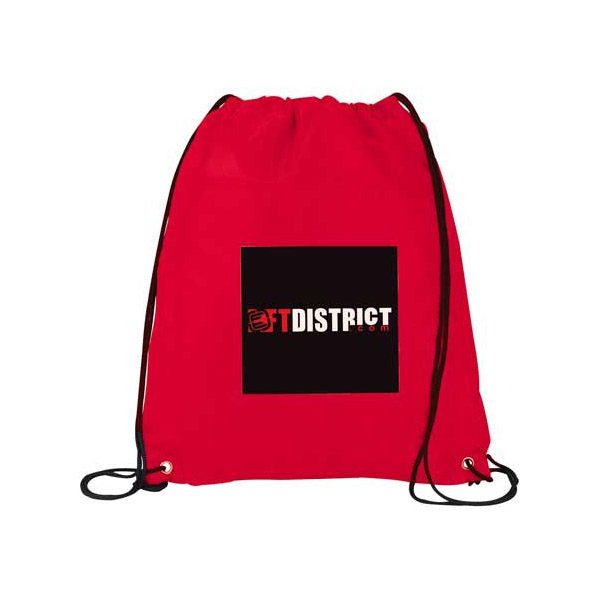 Insulated Drawstring Bags - Red