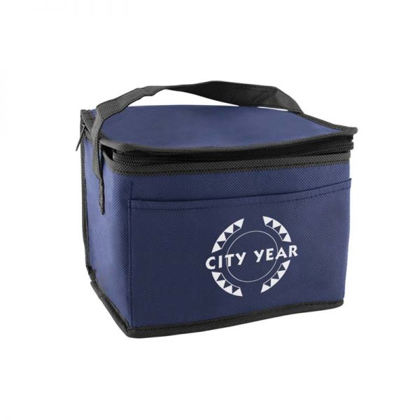 navy insulated lunch tote bag