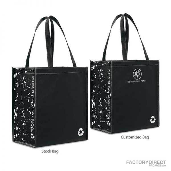 Predesigned Reusable Customizable Grocery Bags - Black