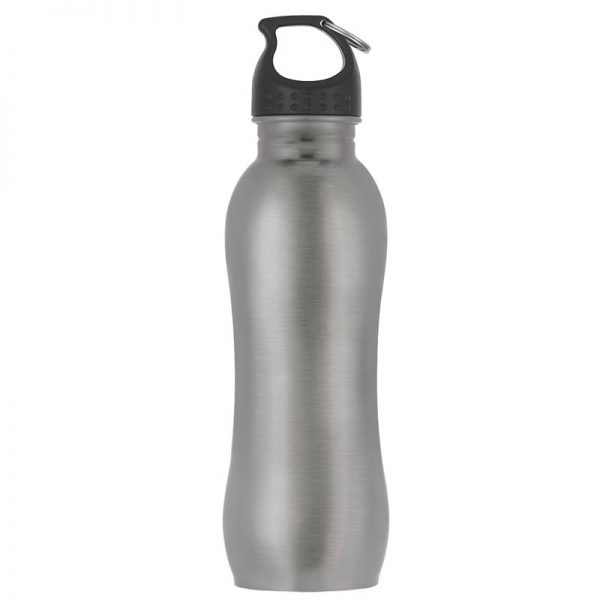 Promotional Gray Stainless Steel Water Bottle available in Bulk