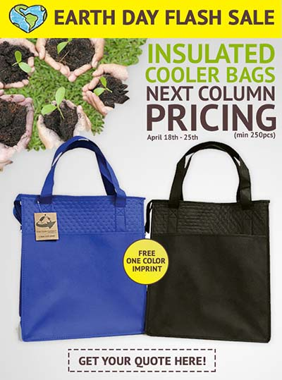 Earth Day Flash Sale on Insulated Totes