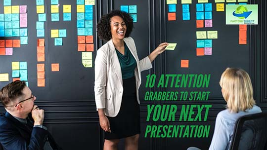 10 Attention Grabbers to Help You Crush Your Next Presentation
