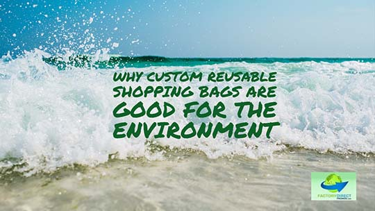 Why Custom Reusable Shopping Bags Are Good for The Environment