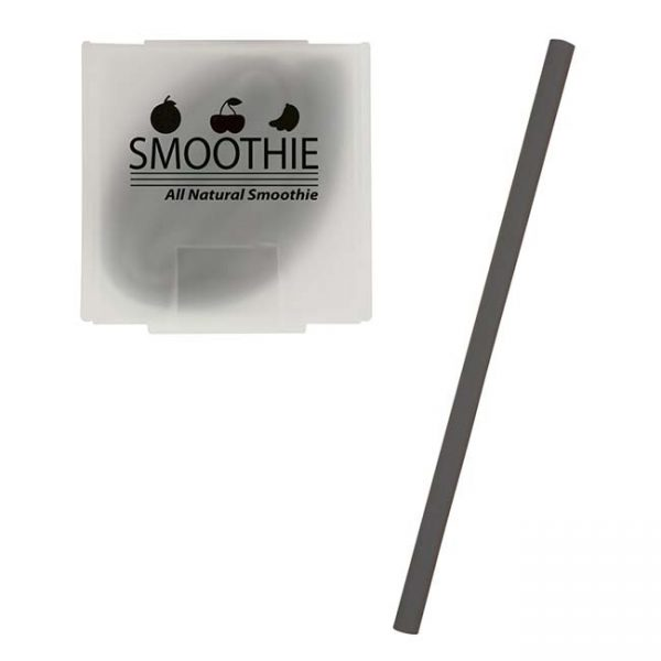 Black Silicone Straw