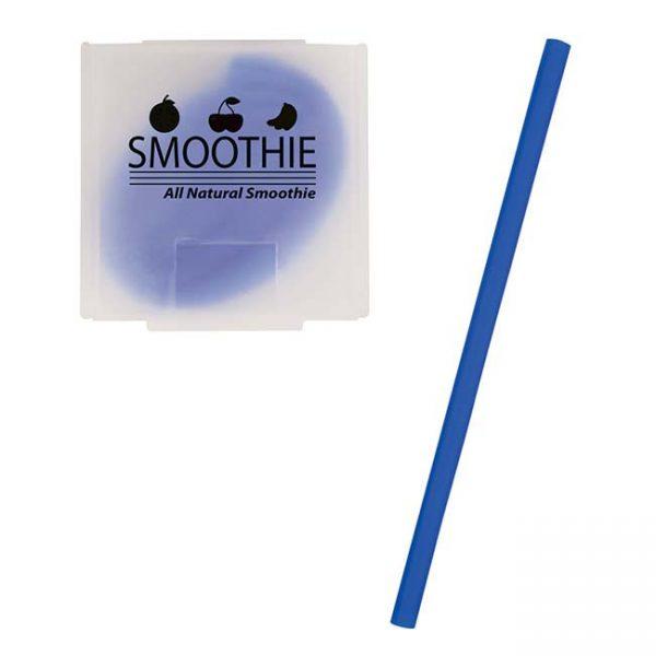 Blue Silicone Straw