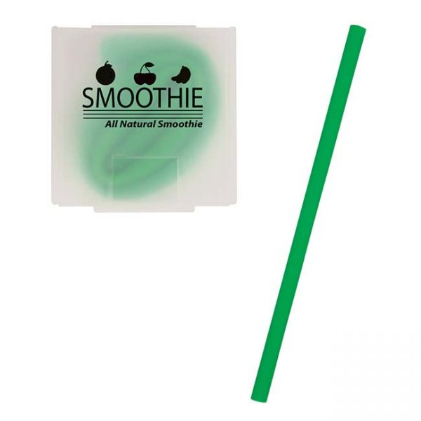 Green Silicone Straw