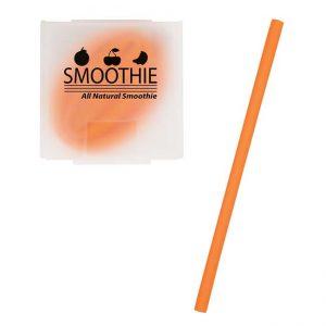 Orange Silicone Straw