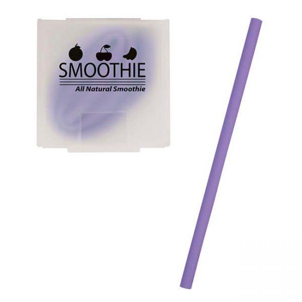 Purple Silicone Straw