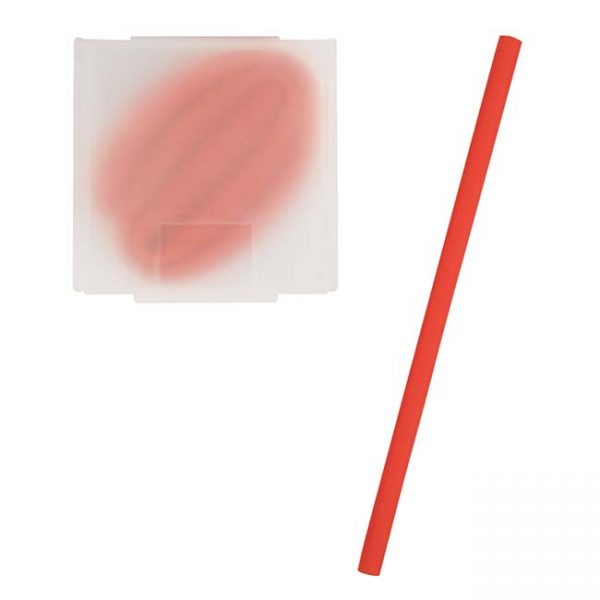 Red Silicone Straw - Blank Case