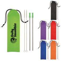 Custom imprinted Stainless Steel Straw Kit