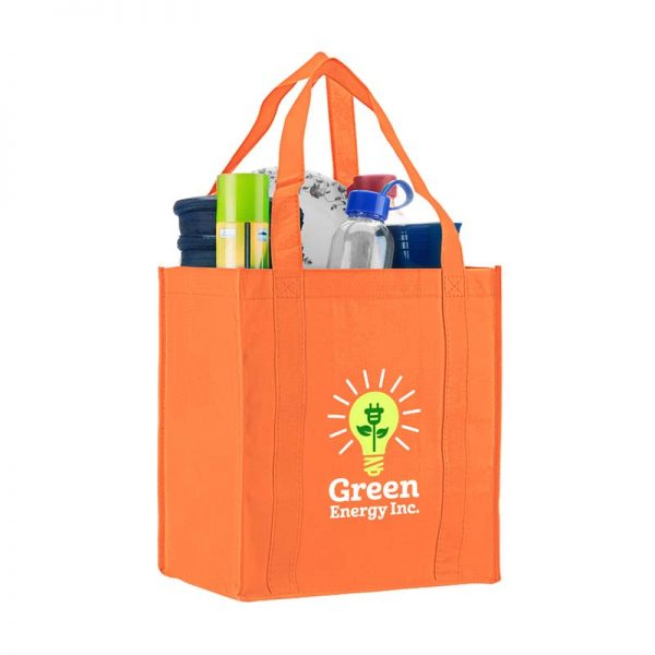 Logo promotional grocery tote - Orange