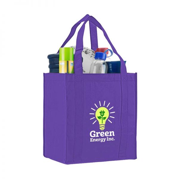 Logo promotional grocery tote - Purple