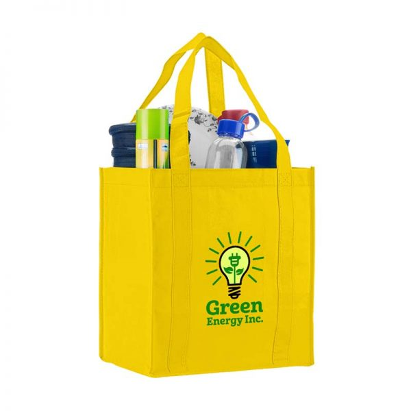 Logo promotional grocery tote - Yellow