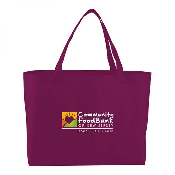Burgundy Economy Shopper Bag