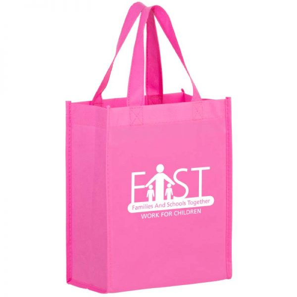 Bright Pink Reusable Bag with Imprinted logo