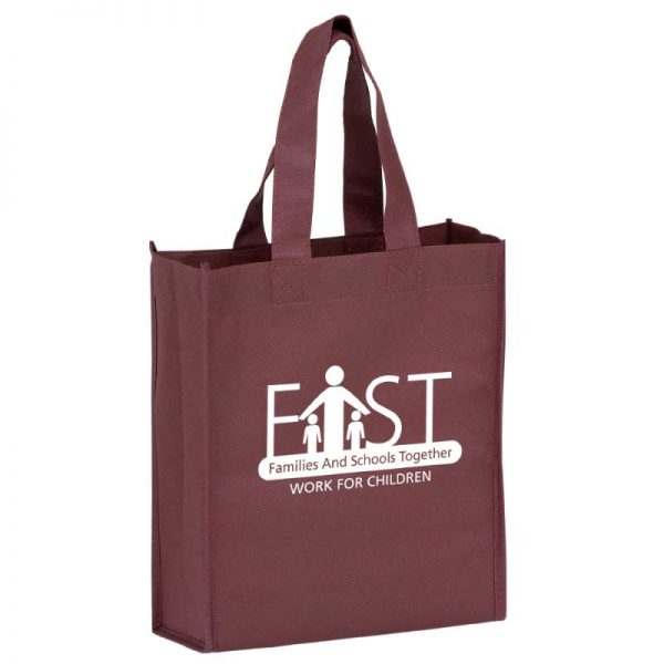 Burgundy Reusable Bag with Imprinted logo
