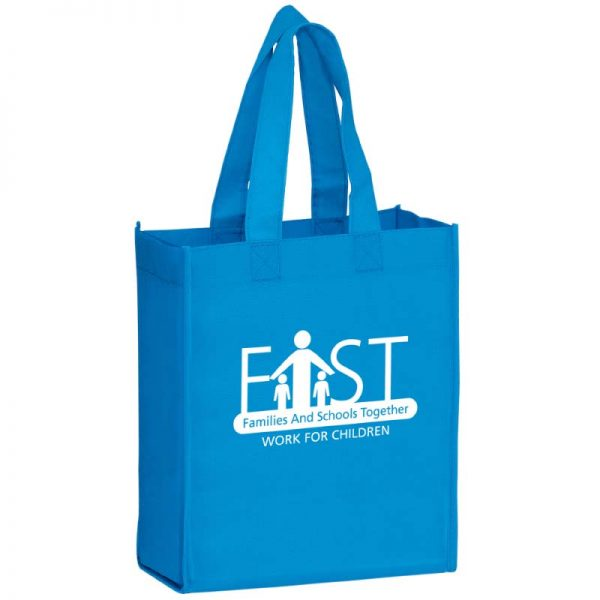 Cool Blue Reusable Bag with Imprinted logo