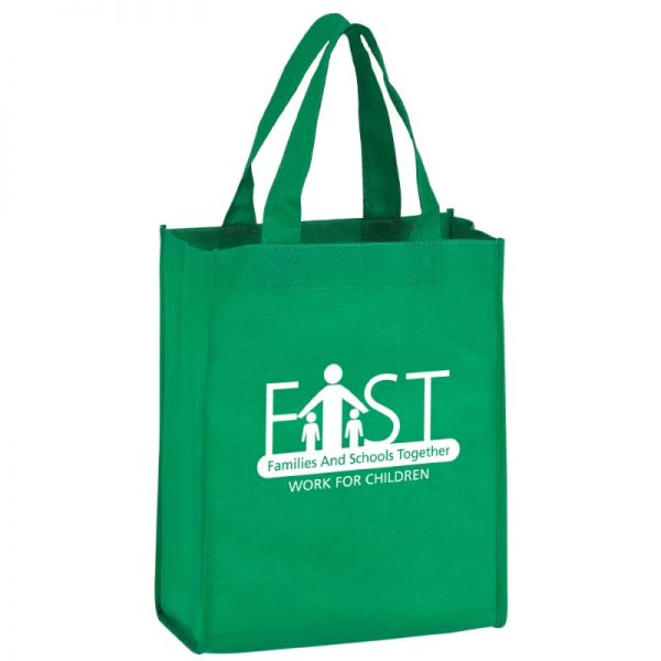 Kelly Green Reusable Bag with Imprinted logo