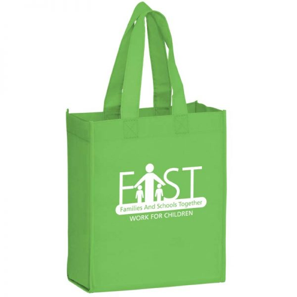 Lime Green Reusable Bag with Imprinted logo