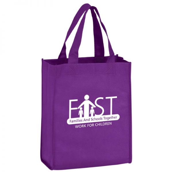 Purple Reusable Bag with Imprinted logo