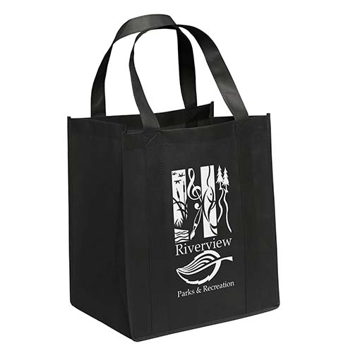 Non-Woven Grocery Bags - Black