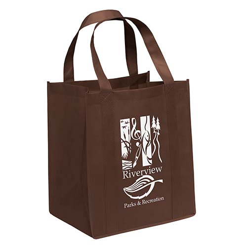 Non-Woven Grocery Bags - Brown