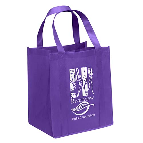 Non-Woven Grocery Bags - Grape