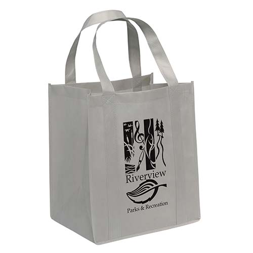 Non-Woven Grocery Bags - Gray