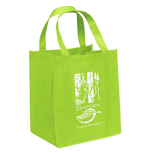 Non-Woven Grocery Bags - Lime