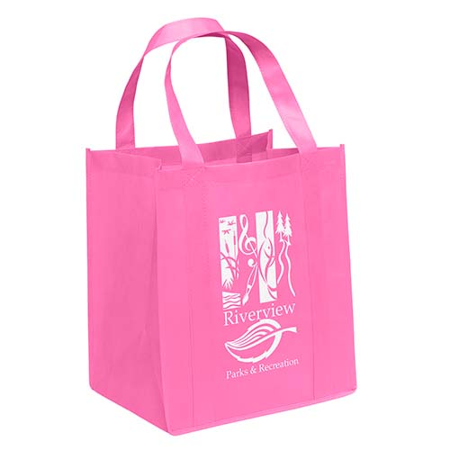 Non-Woven Grocery Bags - Pink
