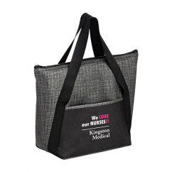 Gray Black insulated tote bag custom logo imprint