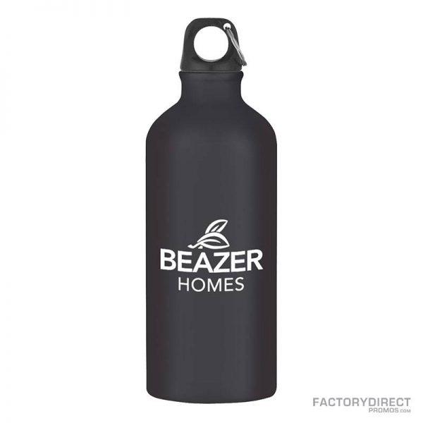 Black Custom Promotional 20oz Aluminum Bottles in Bulk