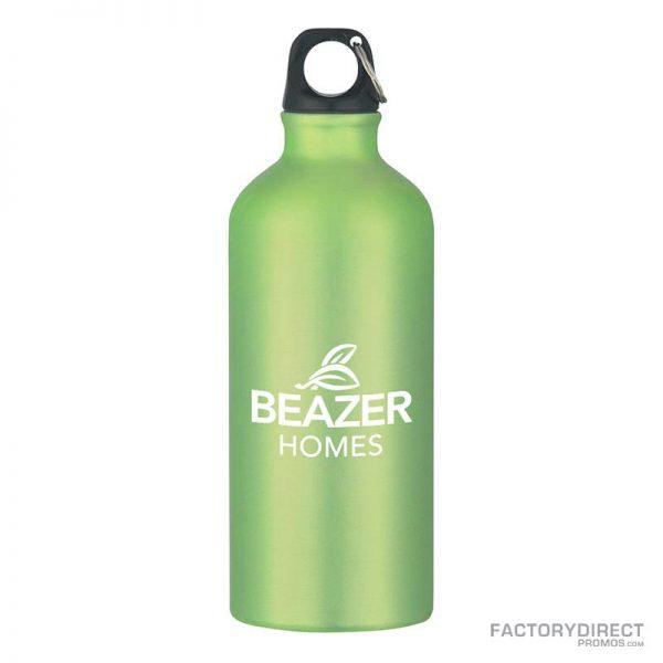 Green Custom Promotional 20oz Aluminum Bottles in Bulk