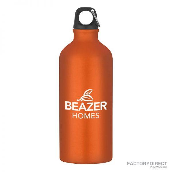 Orange Custom Promotional 20oz Aluminum Bottles in Bulk