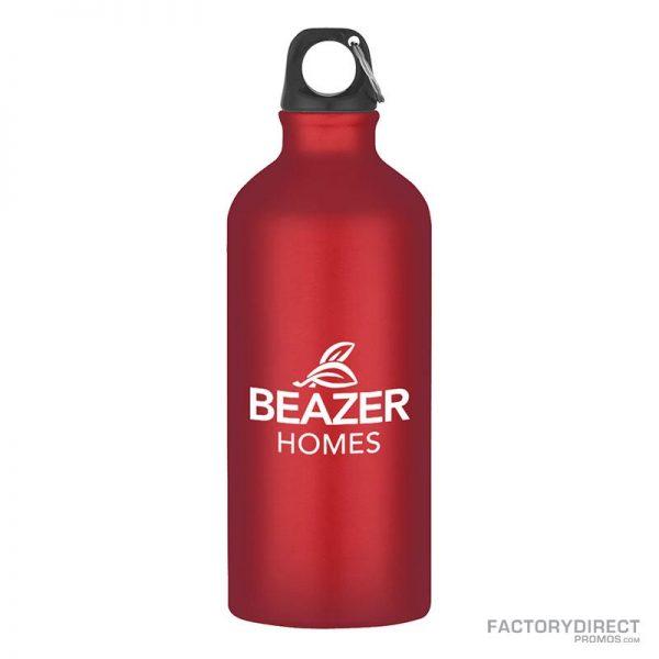 Red Custom Promotional 20oz Aluminum Bottles in Bulk